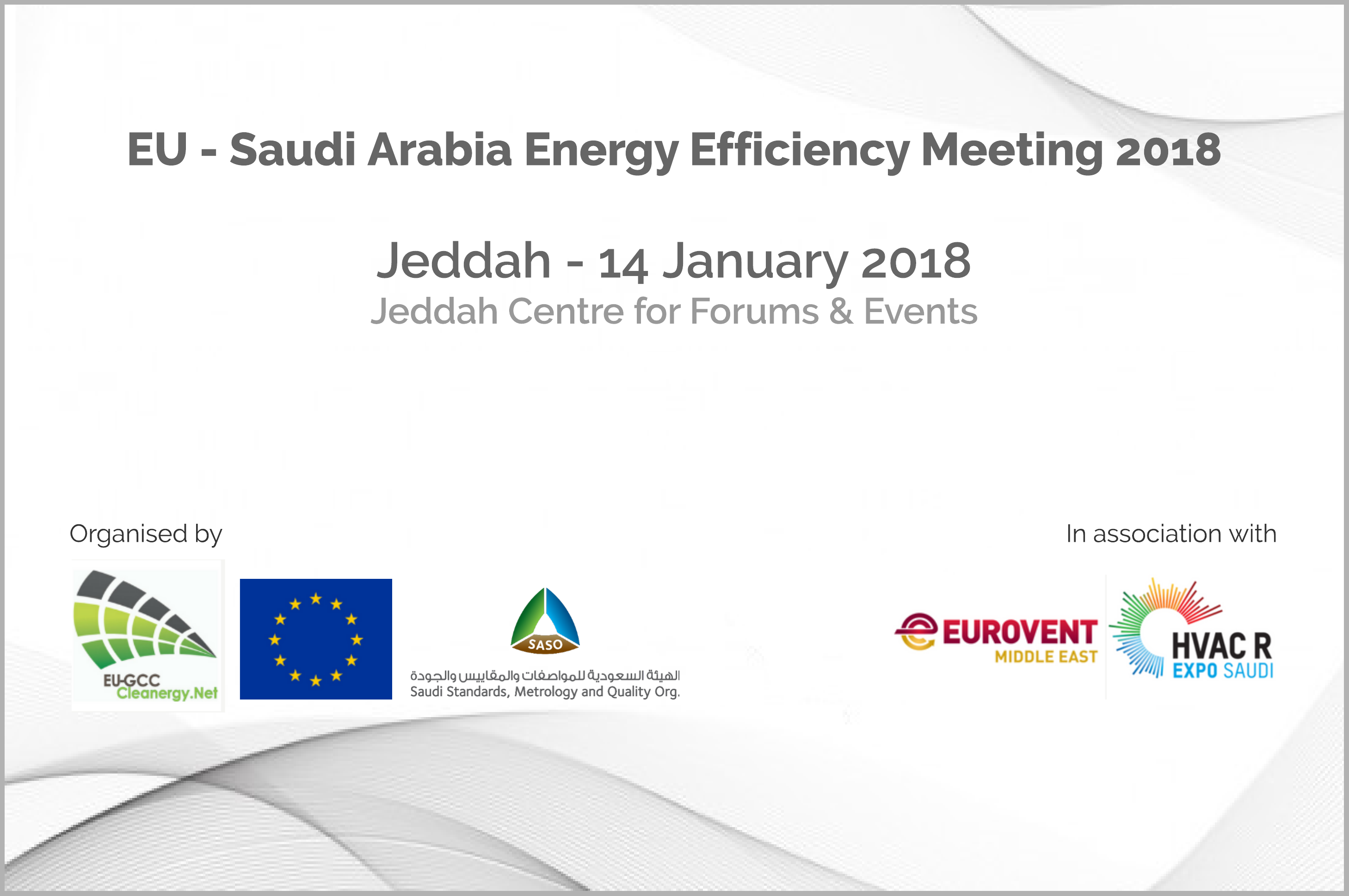 Eu Saudi Arabia Energy Efficiency Meeting 2018 14 January 2018